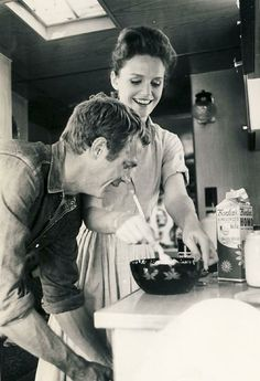 Steve McQueen, Lee Remick | Back Set of Baby the Rain Must Fall | 1965 | as Henry Thomas