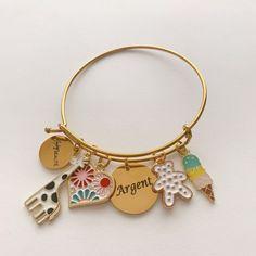 Unique Bracelets, Beaded Bracelets, Photo Charm Bracelet, Photo Charms, Compact Mirror, Handmade Accessories, Custom Photo, Stylish, Jewelry