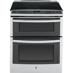 GE Profile 6.6 cu. ft. Slide-In Double Oven Electric Range with Convection (Lower Oven) in Stainless Steel-PS950SFSS at The Home Depot. Another Must Have!