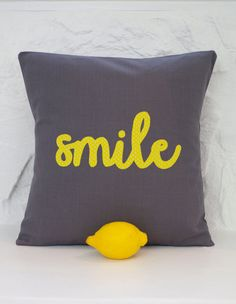 Hey, I found this really awesome Etsy listing at https://www.etsy.com/listing/177771678/applique-smile-cushion-cover-40cm-x-40cm
