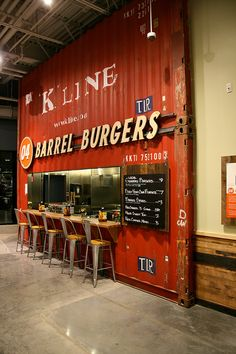 Industrial Zombie Shipping Container Architecture | Whole Foods Burger & Beer Joint