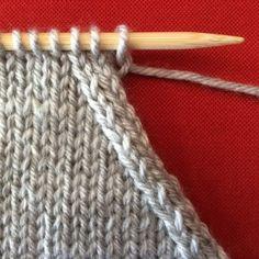 comment tricoter une maille a l'endroit