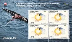 Grönlanti COVID-19 postimerkki arkki