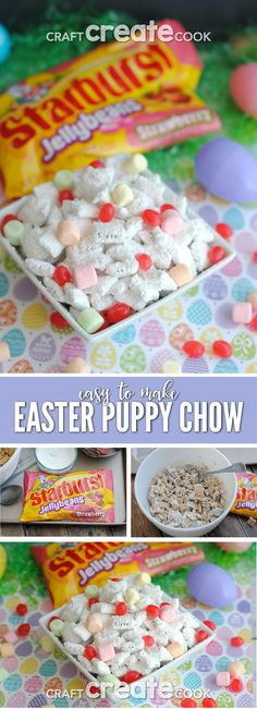 Easter Puppy Chow is the perfect snack for sharing! via @CraftCreatCook1