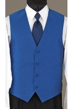 The royal blue Legacy vest can be worn with the matching royal blue legacy bow tie or royal blue imperial tie.     : ) YAYY!!