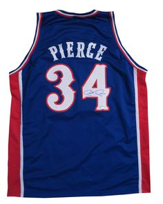 "Paul Pierce Signed Kansas Jersey from Powers Autographs Nicknamed ""The Truth,"" Pierce is a 10-time All-Star and led the Celtics to an NBA Championship in 2008. He was named Finals MVP that year. A University of Kansas Alum, he is considered one of the top 10 Jayhawks of all time. Custom jersey, name and numbers are sewn on. Autograph is authenticated by Steiner Sports. Steiner conducted the signing with Piece. Jersey comes with their hologram fixed to the jersey and COA card."