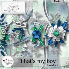That's my boy * borders * by Jessica art-design