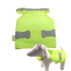 New Green Dog Reflective Safety Vest Design Pet Dog Jacket Clothes For Night Time Walks Alaska Husky Products (S size )