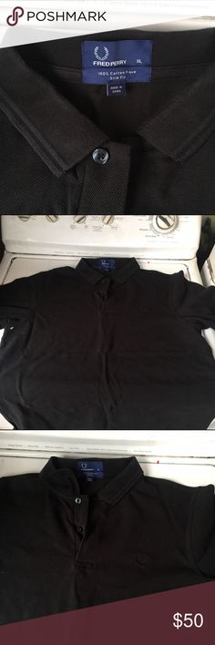 Fred perry twin tipped polo size xl! This is a very nice shirt, it is black on black slim fit xl very clean shirt! Like new! Fred Perry Shirts Polos