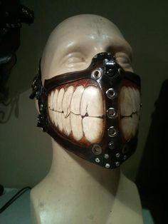 Steampunk Tendencies | Biker Grin Mask SkinzNhydez Steampunk Steam-Tec http://steampunktendencies.tumblr.com/post/48215040916/steampunk-tendencies-armor-mask-gears-gautlet