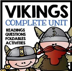 Vikings - Complete Unit with Informational Text, Comprehension Questions, Foldables, and Activities!