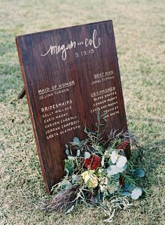ideas for wedding diy signs wood signage Trendy Wedding, Fall Wedding, Dream Wedding, Wedding Things, Wedding Stuff, Woodsy Wedding, Wedding Dreams, Wedding Flowers, Tennessee Wedding Venues