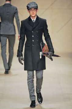 Burberry Prorsum Fall 2012-I was looking at a coat similar to this but not as long