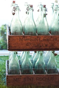 old bottles as art