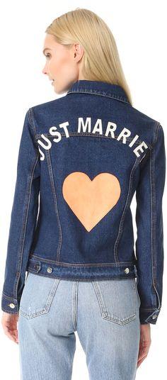 Perfect light layer for Honeymoons + Destination Weddings   JN by JN LLOVET Just Married Denim Jacket