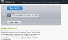 Audio Extractor, utilidad web gratuita para extraer el audio de los vídeos
