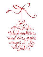 Weihnachtskugel Typographie - Frohe Weihnachten