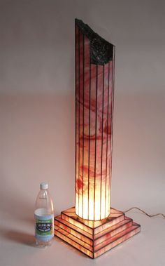 Stained Glass Sculpture Architectural Column