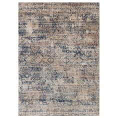 Alexander Home Contessa Mist/ Blue Rug x (Mist/ Blue x Multi (Polyester, Oriental) Transitional Rugs, Wool Carpet, Weaving Techniques, Online Home Decor Stores, Open Concept, Rug Making, Carpet Runner, Oriental Rug, Colorful Rugs