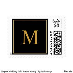 Shop Elegant Wedding Gold Border Monogram Custom Color Postage created by beckynimoy. Personalize it with photos & text or purchase as is! Elegant Wedding, Wedding Gold, Wedding Gifts, Custom Postage Stamps, Wedding Postage, Gold Gifts, Self Inking Stamps, Monogram Wedding, Monogram Gifts