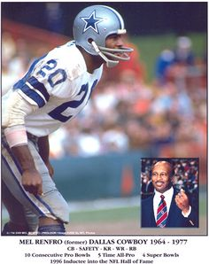 Mel Renfro  Dallas Cowboys
