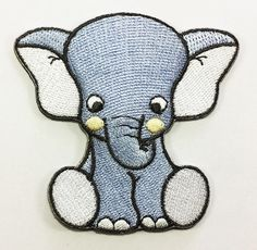 Cute Elephant Cub Cartoon DIY Applique Embroidered Sew Iron on Patch p33 >>> You can find more details by visiting the image link.