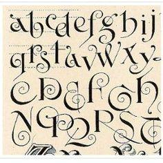 curly script