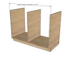 Kitchen Base Cabinets 101 | Ana White reference for broom cabinet
