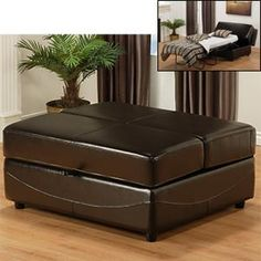 Costco - Lido Bicast Leather Hide-a-bed-ottoman - cool for guests Fold Up Wall Bed, Fold Up Beds, Sleeper Ottoman, Ottoman Bed, Sleeper Sofas, Build A Murphy Bed, Murphy Bed Plans, Porch Chairs, Living Room Chairs