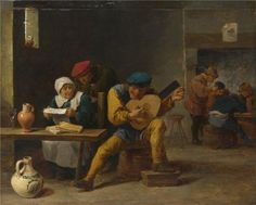 Oil Painting David Teniers The Younger  Peasants Making Music In An Innprobably 16405 Printing On High Quality Polyster Canvas  16x20 Inch  41x51 Cm the Best Garage Decoration And Home Gallery Art And Gifts Is This Best Price Art Decorative Prints On Canvas