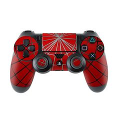 iStyles your Sony PlayStation 4 Controller with a Webslinger PlayStation 4 Controller Skin. Control Playstation, Control Ps4, Playstation Games, Ps4 Games, Ps3, Cool Ps4 Controllers, Xbox One Controller, Geek Mode, Cry Anime