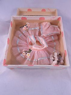 Vintage Nancy Ann MUFFIE ballet outfit #806-2 from 1954 in Original Box!