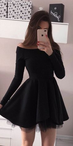 Short Red Prom Dresses, Long Sleeve Homecoming Dresses, Hoco Dresses, Pretty Dresses, Pretty Outfits, Casual Dresses, Fashion Dresses, Formal Dresses, Formal Outfits