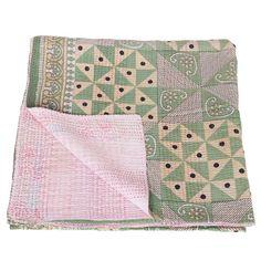 kantha sari blanket cotton khudi_fair trade india