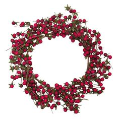 Large Raspberry Wreath - Baubles & Bows - On Temple & Webster today!