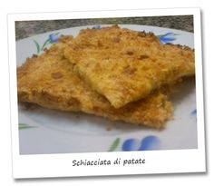 """Crushed potatoes.  This dish, easy to perform, is a retelling of the famous potatoes gateau, and it's also the first recipe that inaugurate a new section of the blog: """"low cost recipes""""."""