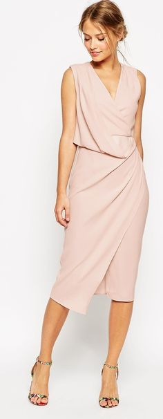 Image 2 of ASOS WEDDING Wrap Drape Midi Dress Image 3 of ASOS WEDDING Wrap Drape Midi Dress Image 4 of ASOS WEDDING Wrap Drape Midi Dress Image 1 of ASOS WEDDING Wrap Drape Midi Dress View Catwalk Shop the Look Product Code: 683727 ASOS WEDDING Wrap Drape Midi Dress £55.00