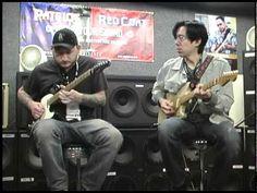 Josh Smith and Tomo Fujita at the Eminence NAMM booth