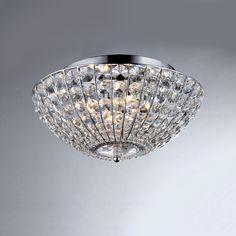 Hermes Crystal Chrome 4-light Ceiling Lamp | Overstock.com