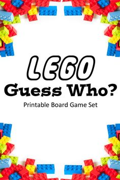LEGO Guess Who? printable board game set | One Mama's Daily Drama --- My kids love this game!