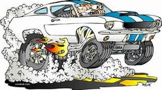 Image result for Rat Rod Cartoon Drawings