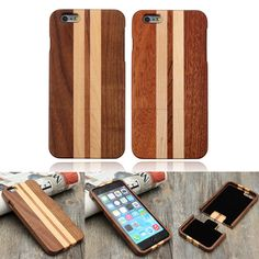 Genuine Real Natural Wood Wooden Hard Back Case Cover For iPhone 6 Plus