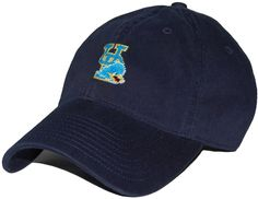 University of Delaware Needlepoint Hat in Navy by Smathers & Branson