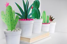 Paper Cactus and Grasses - DIY Paper Cactus and Grasses, Delineate Your Dwelling - Cactus Craft, Cactus Decor, Cactus Cactus, Indoor Cactus, Classroom Design, Classroom Themes, Modern Classroom, Toddler Classroom, Classroom Setting
