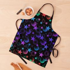 Abstract Pattern, Black Tie, Print Design, Apron, Women's Fashion, Stars, Printed, Awesome, Color