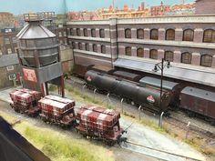 Railroad Photography, Model Train Layouts, Steam Locomotive, Model Trains, Scenery, Hobbies, Industrial, Community, Landscape