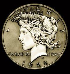 1922 Circulated Peace Dollar by TheNightGallery.deviantart.com on @DeviantArt