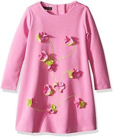 Toddler Girls' Flower Flair Long Sleeve Dress Flower Sleeve, French Street Fashion, Toddler Girls, Biscotti, Pink Dress, Street Styles, Little Girls, Tunic Tops, Note