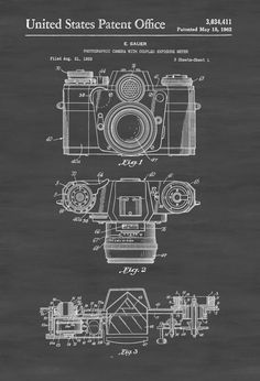 Motorcycle blueprint art print letters and words and images zeiss camera patent patent print wall decor photography art camera art by publiclens on etsy malvernweather Choice Image