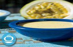 vinagreta) de maracuyá   Sabores en Línea Cheeseburger Chowder, Salads, Soup, Geeks, Dressing, Kitchen, Vinaigrette, Meals, Cooking